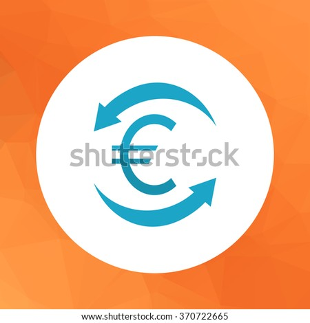 Euro cycle - stock vector