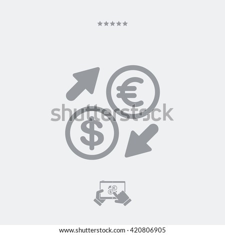 Euro/Dollar - Foreign currency exchange icon  - stock vector
