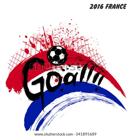 Euro 2016 France football championship vector design