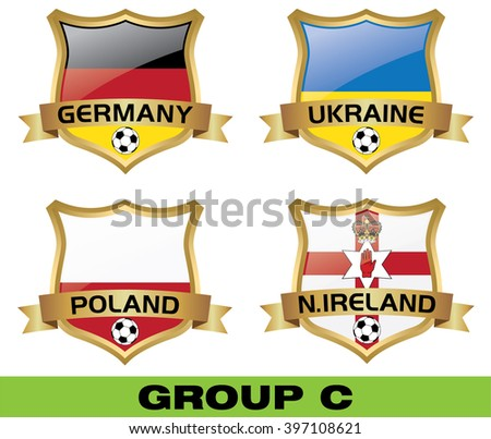 Euro 2016 Group C - stock vector