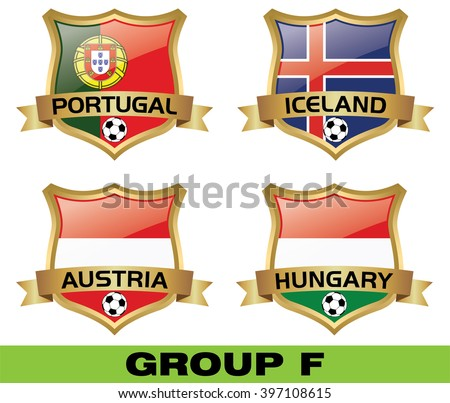 Euro 2016 Group F - stock vector