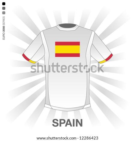 EURO 2008 SERIES - SPAIN - stock vector