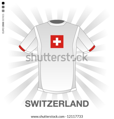 EURO 2008 SERIES - SWITZERLAND - stock vector