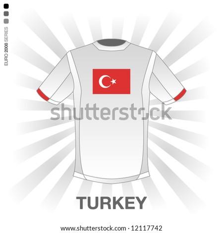 EURO 2008 SERIES - TURKEY - stock vector