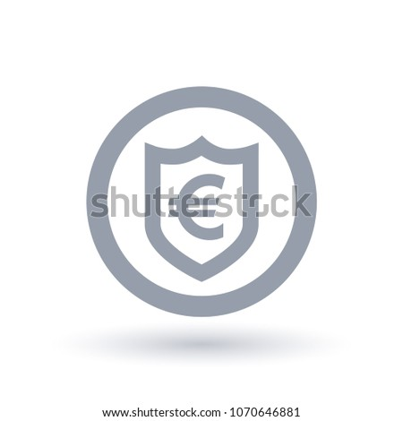 Euro Shield Symbol European Currency Security Stock Photo Photo