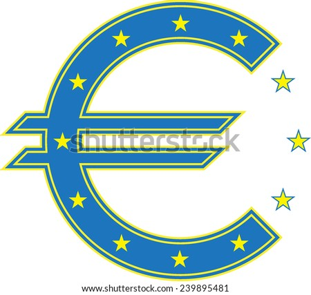 euro sign currency - stock vector
