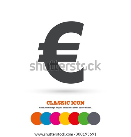 Euro Sign Icon Eur Currency Symbol Stock Vector Hd Royalty Free