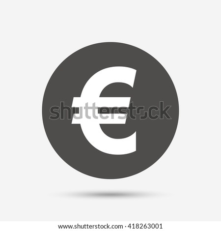 Euro Sign Icon Eur Currency Symbol Stock Photo Photo Vector