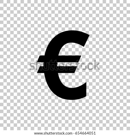 Euro Sign Isolated On Transparent Background Stock Vector 2018