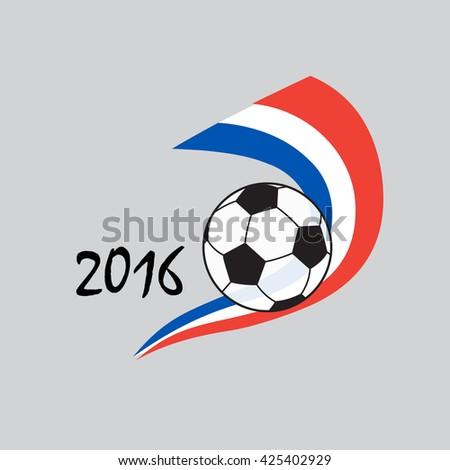 EURO 2016. UEFA 2016. EURO 2016 Soccer banner. Soccer ball icon. Soccer 2016. Championship Soccer France. Soccer icon. Soccer image. Championship Soccer Vector. Football icon. Winner ribbon icon.  - stock vector