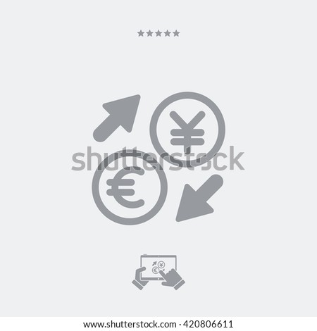 Euro/Yuan - Foreign currency exchange icon  - stock vector