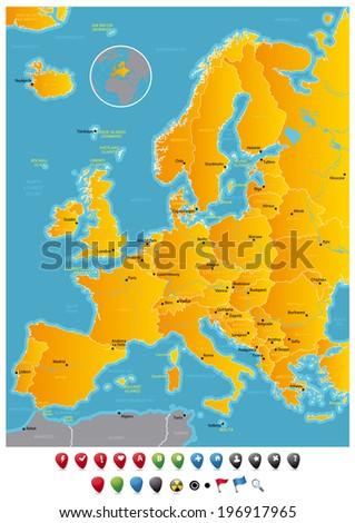 Europe - stock vector