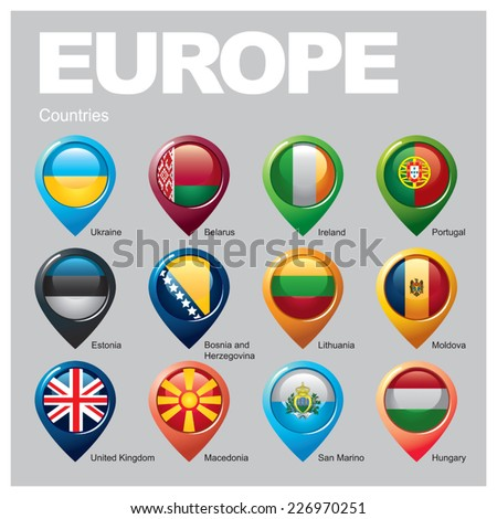 EUROPE Countries - Part Six - stock vector