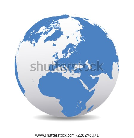Europe Global World  - stock vector