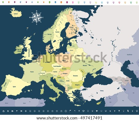 Map Europe Colored By Countries Regions Stock Vector 686275558 ... on map of continents labeled, map of oceania labeled, map of central america labeled, map of usa labeled, map of europe without labels, map of greece labeled, map of the world labeled, map india countries labeled, map of western europe with cities, map of europe with cities labeled, map of south africa labeled, map of north america labeled, map of us states labeled, map of european countries, map of southern europe labeled, map of europe bodies of water, map of eastern hemisphere labeled, western europe map labeled, printable map of europe labeled, asia map countries labeled,
