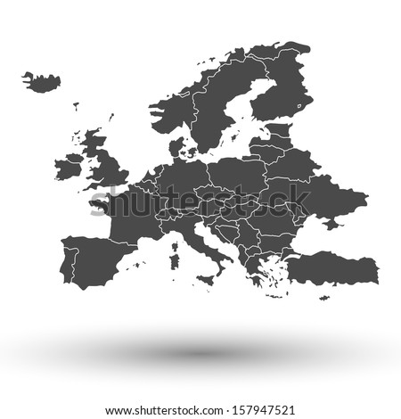 Europe map background vector - stock vector