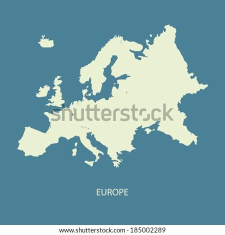 EUROPE MAP ILLUSTRATION VECTOR - stock vector