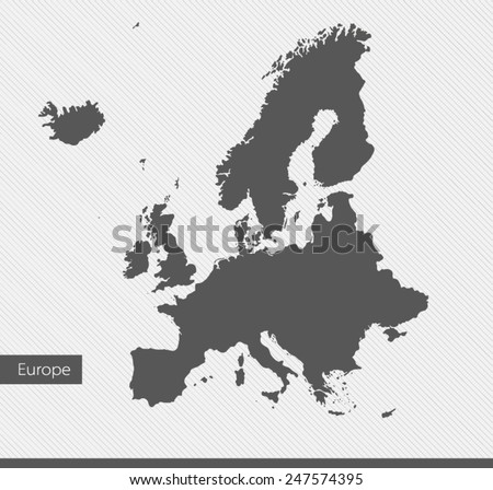 Europe map on gray background. Vector illustration - stock vector