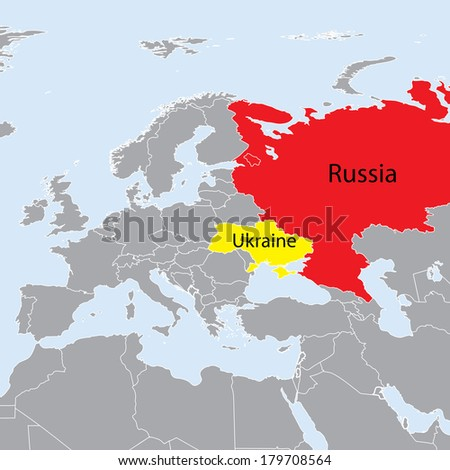 europe map ukraine and russia conflict