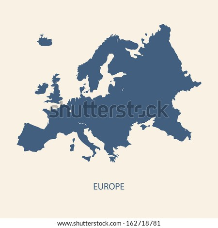 EUROPE MAP VECTOR - stock vector