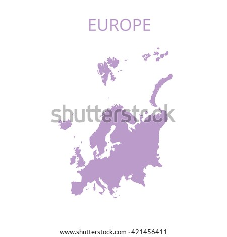 Europe map. Vector illustration. - stock vector