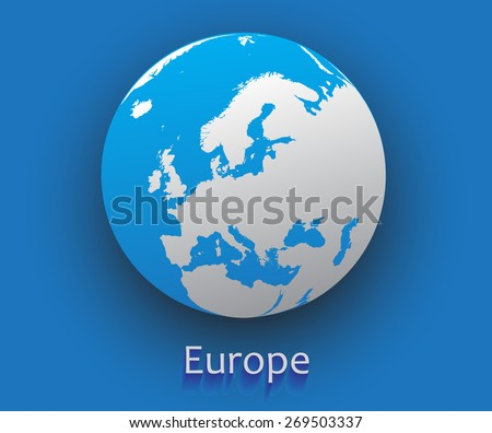 Europe vector map vector globe icon earth globe stock vector europe vector mapctor globe iconearth globe illustration gumiabroncs Image collections