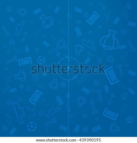 European Championship Background, Soccer Wallpaper, Sport Elements Illustration - stock vector