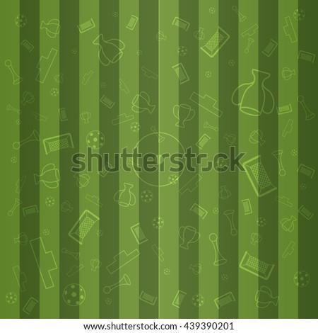 European Championship Background, Soccer Wallpaper, Sport Elements Illustration. Green Football Background. Football Background. Football Background. Football Background. Green Football Background. - stock vector