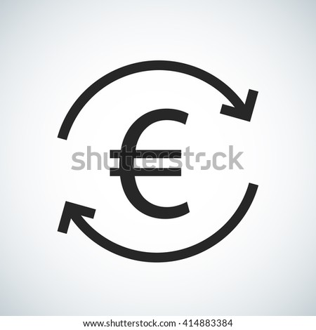 European Euro Money Flow Currency Exchange Stock Vector 414883384