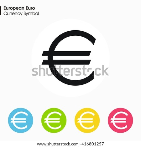 European Euro Sign Icon Money Symbol Vector Stock Vector 416801257