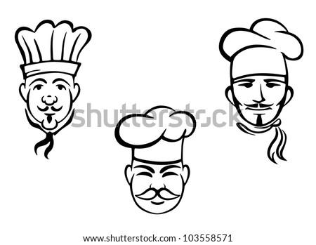 European restaurant chefs set for design. Vector illustration - stock vector