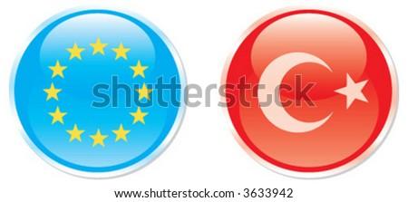 european, turkey, icon - stock vector