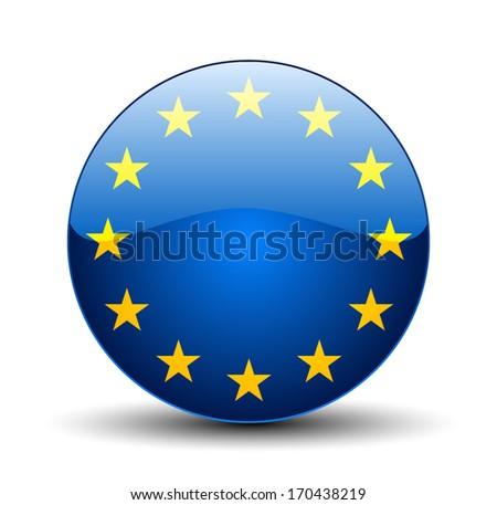 European Union Button - stock vector