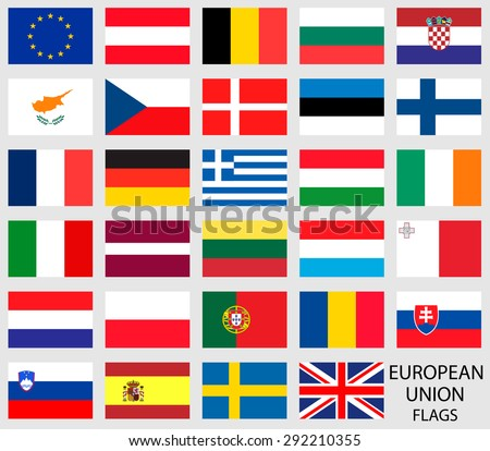 European Union country flags - stock vector