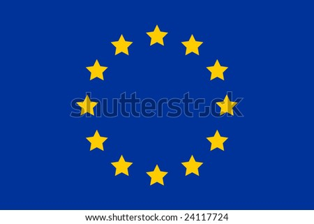 European Union-EU flag with exact dimensions and colours - stock vector