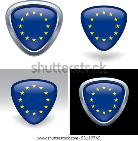 European Union Flag Crest - stock vector