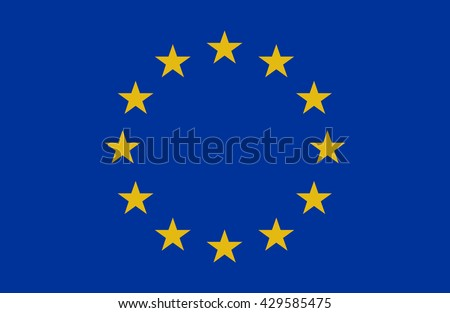 European union flag.Vector illustration - stock vector