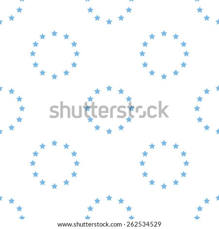 European Union white and blue seamless pattern for web design. Vector symbol - stock vector