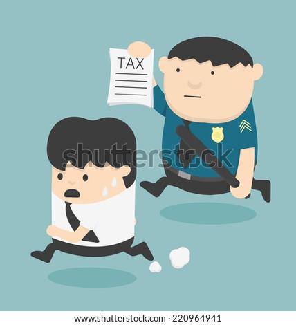 evasion tax - stock vector