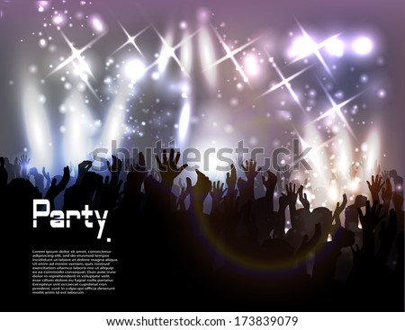 Evening in night club. vector background - stock vector
