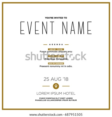 Mothers day invitation template stock vector 391534429 shutterstock event invitation template with agenda venue and date details stopboris Gallery