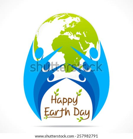 every people celebrate earth day design vector - stock vector