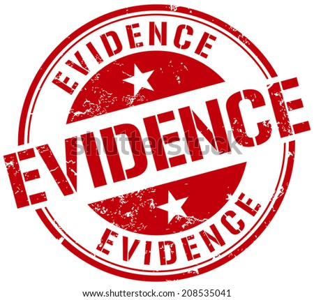 evidence stamp - stock vector