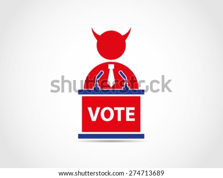 Evil Bad Corrupt UK Britain Politician Policy - stock vector