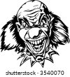 Evil Clown. Vector Image. Ready for vinyl cutting. - stock vector