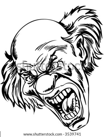 Clown Face Coloring Pages For Kids furthermore Viewtopic additionally Collectioncdwn Chinese Dragon Head Stencil additionally Clown Cartoon Face in addition How To Draw Elephant Teeth. on scary carnival silhouette art