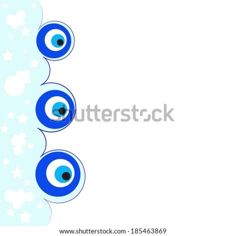 Evil eye. Amulet. A vector illustration - stock vector