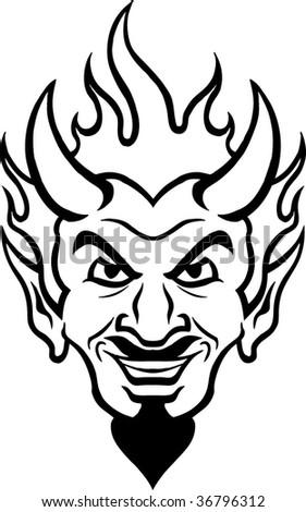 evil guy - stock vector