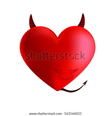 Evil heart vector illustrator - stock vector
