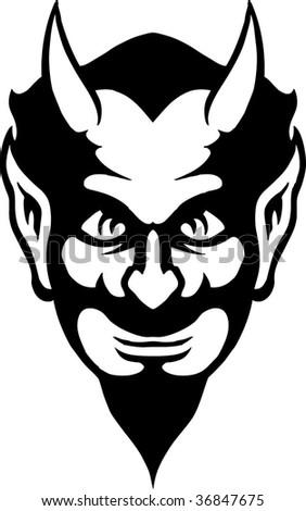 evil man - stock vector